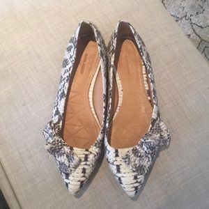 Excellent condition Isabel Marant snakeskin flats